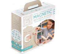 [Cuburi magnetice din lemn natural - 50 buc]