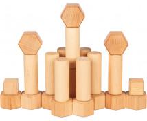 [Nature cuburi din lemn, 75 buc]