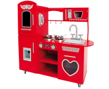 [Bucătărie roșie cu inimă]