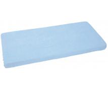 [Cearceaf impermeabil cu elastic, frotir, 120 x 60 cm-albastru]