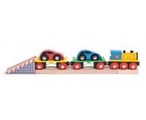 [Tren cu mașinuțe]