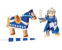 [Cavaler din lemn - albastru]