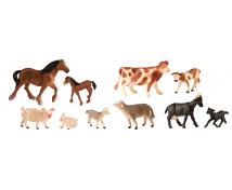 [Animale din plastic - La ferma cu pui - 12 buc]