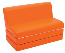 [Canapea extensibilă SOFT-portocaliu]