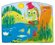 [Aplicație de spumă - Omulețul Verde - Mare (116,5 x 93 x 5 cm)]