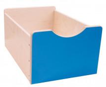 [Cutie depozitare mare din lemn - albastru]