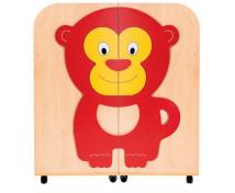 [Bibliotecă / Cărucior 2 în 1 Fag-Maimuță]