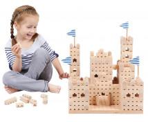 [Set de construcție din lemn BUKO - Castel mic]