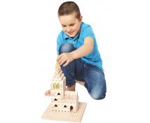 [Set de construcție din lemn BUKO - Set mic pentru început ]
