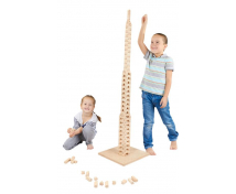 [Set de construcție din lemn BUKO - Set mare pentru început ]