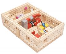 [Set de construcție din lemn BUKO - Etaj plan al unei case mici ]