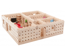 [Set de construcție din lemn BUKO - Etaj plan al unei case mari]