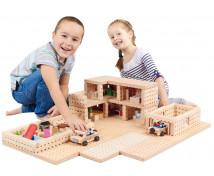 [Set construcție din lemn BUKO - Casă cu etaj ]