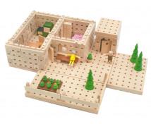 [Set construcție din lemn BUKO - Cabana]