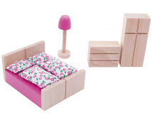 [Set de construcție din lemn BUKO - Accesorii - dormitor]