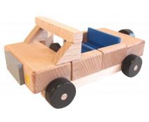 [Set de construcție din lemn BUKO - Accesorii -  mașină ]