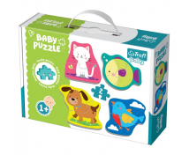 [Baby puzzle- Animăluțe de companie (1+)]