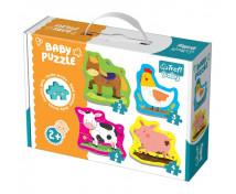 [Baby puzzle- Animăluțe de la fermă (2+)]