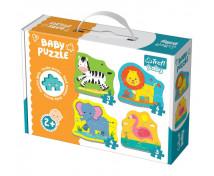 [Baby puzzle- Animăluțe din safari (2+)]