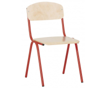 [Scaun cu structură metalică 1 - înălțimea șezutului 26 cm - roșu]