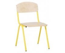 [Scaun cu structură metalică 1 - înălțimea șezutului 26 cm - galben]