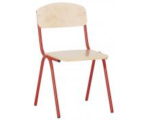 [Scaun cu structură metalică 2 - înălțimea șezutului 31 cm - roșu]