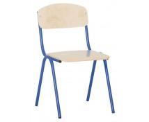 [Scaun cu structură metalică 3 - înălțimea șezutului 35 cm - albastru]