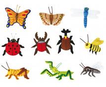 """[Motive din pâslă  - Insecte """"S"""" - 10 bucăți la set ]"""