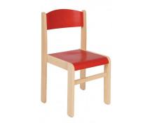 [Scaun din lemn Arțar-26-roșu]