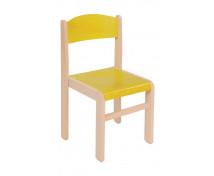[Scaun din lemn Arțar-26-galben]