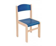 [Scaun din lemn Arțar-31-albastru]