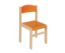 [Scaun din lemn Arțar-31-portocaliu]