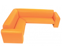 "[Canapea de colț ""Exclusive""-portocaliu]"