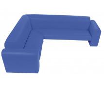 """[Canapea de colț """"Exclusive""""-albastru]"""