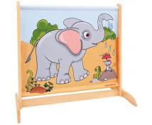[Paravan micuț cu animale-Elefant / Zebră]