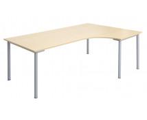 [Masă de birou cu picioare metalice - de colț - drept]