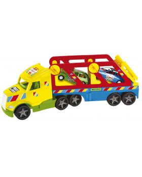Super camion cu mașinuțe