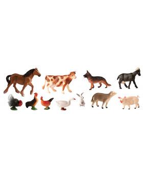 Animale din plastic - La fermă - 11 bucăți