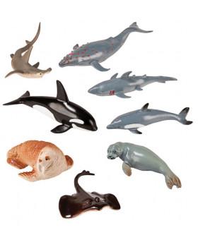 Animale din plastic - În mare - 8 buc