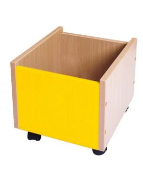 Cutii depozitare cu rotile - galben