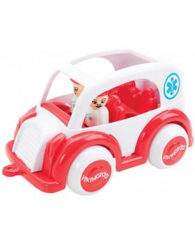 Ambulanță cu două figurine